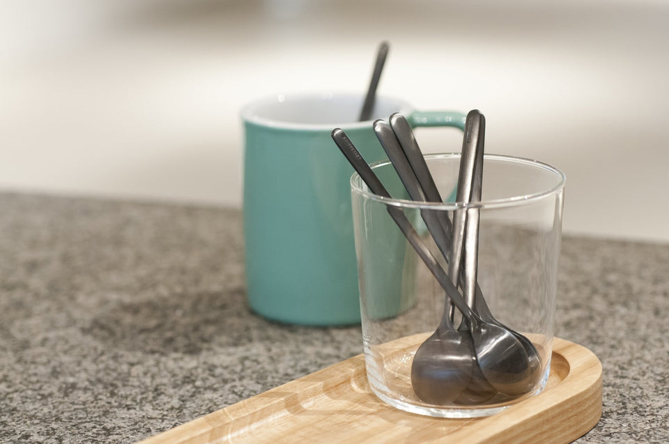 Set of 6 x 13cm Spoon (L) (Matte Black) - Archiology