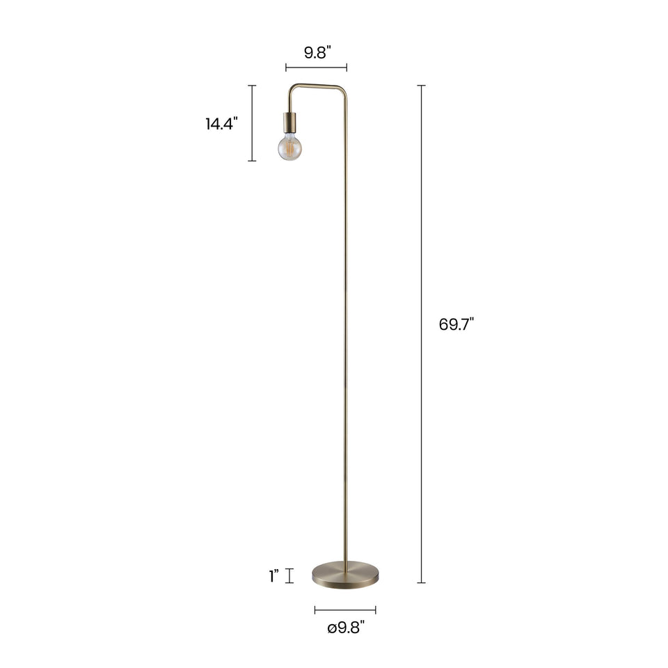 "UNO 69.7"" Arched Floor Lamp - Archiology"