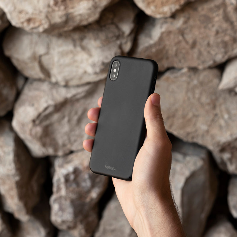 Dun iPhone XS Hoesje V2 - Stealth Black