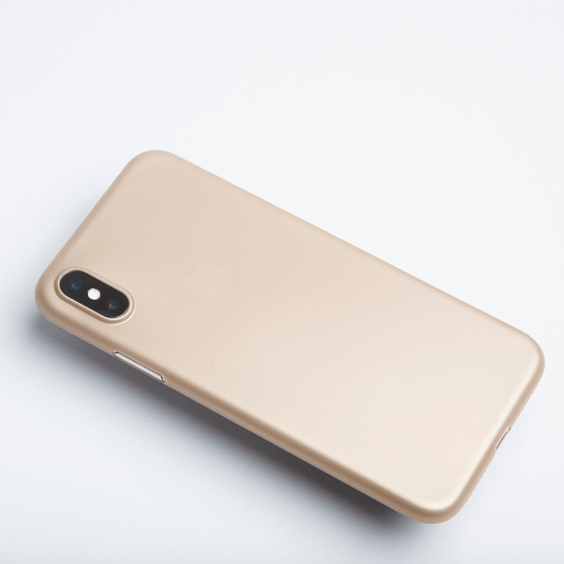 Super dunne iPhone X hoesje - Gold