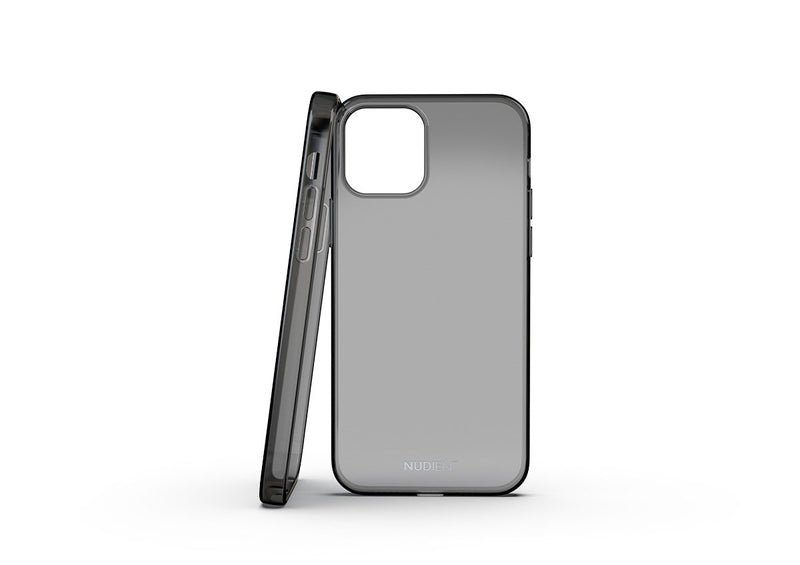 Nudient - Glazend dun iPhone 12 Pro Hoesje - Black transparent