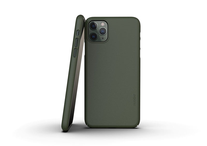 Nudient - Dun iPhone 11 Pro Max Hoesje V3 - Pine Green