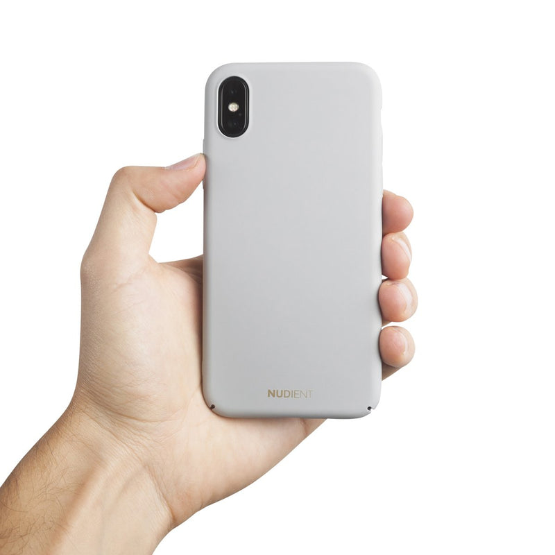 Dun iPhone X Hoesje V2 - Pearl Grey