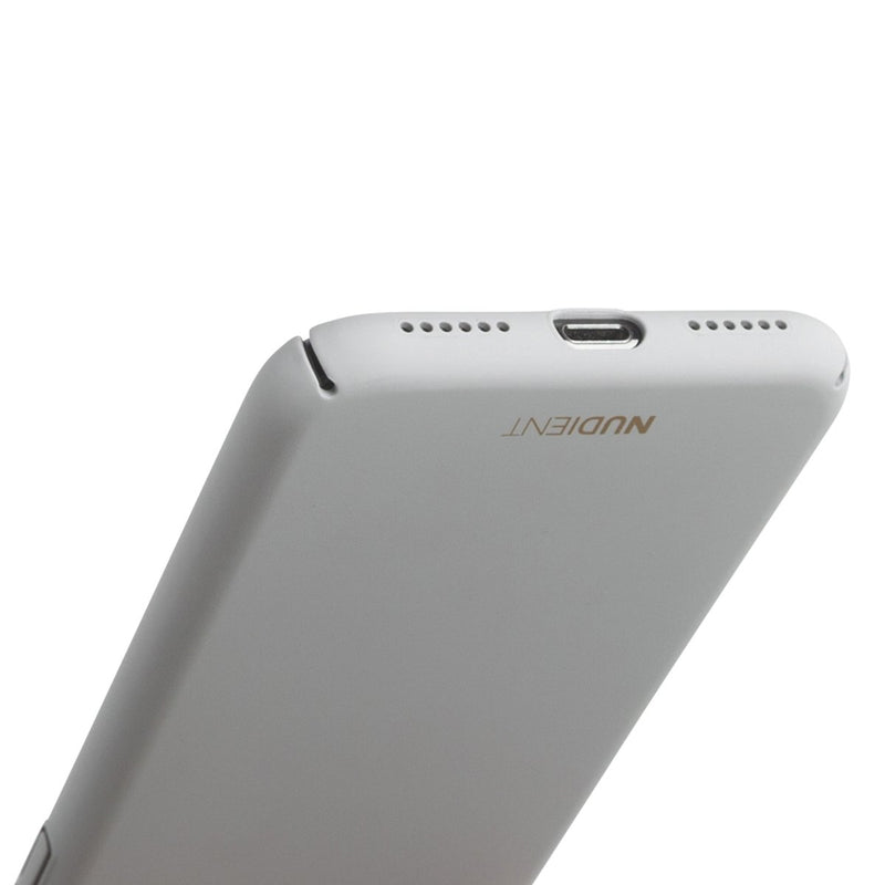 Dun iPhone XS Max Hoesje V2 - Pearl Grey
