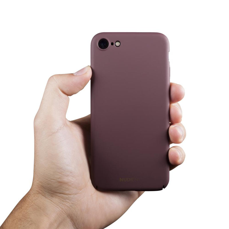 Dun iPhone 7 Hoesje V2 - Sangria red
