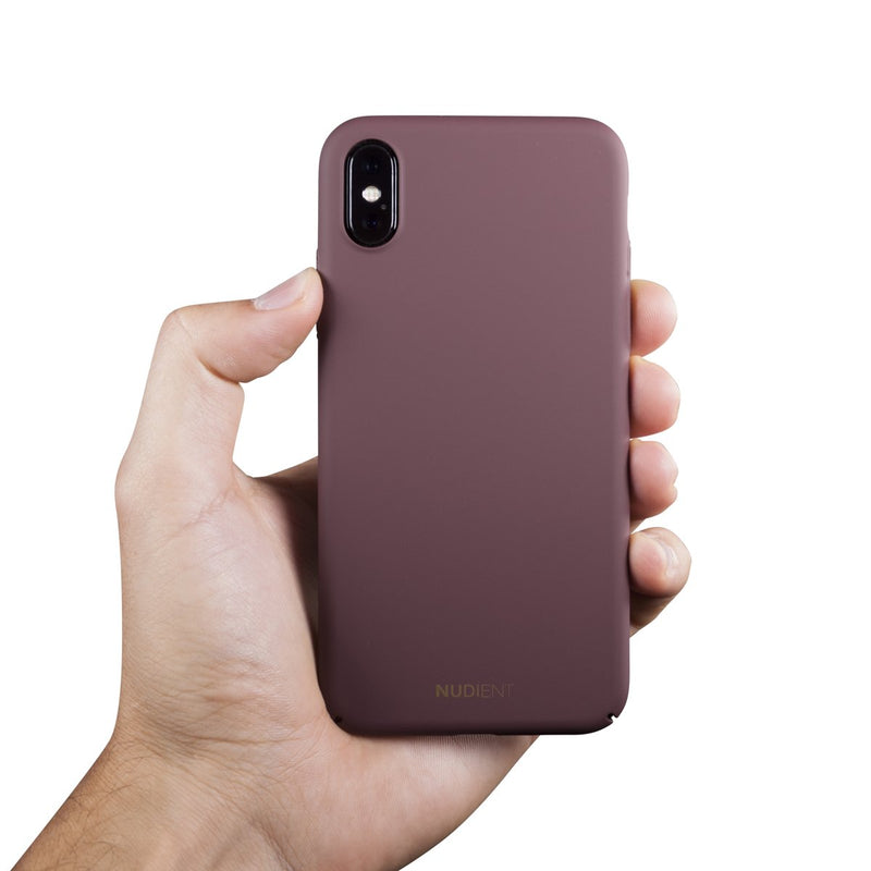 Dun iPhone XS Hoesje V2 - Sangria Red