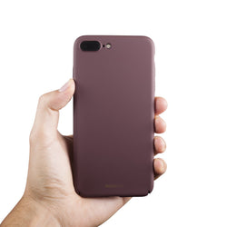 Dun iPhone 8 Plus Hoesje V2 - Sangria Red