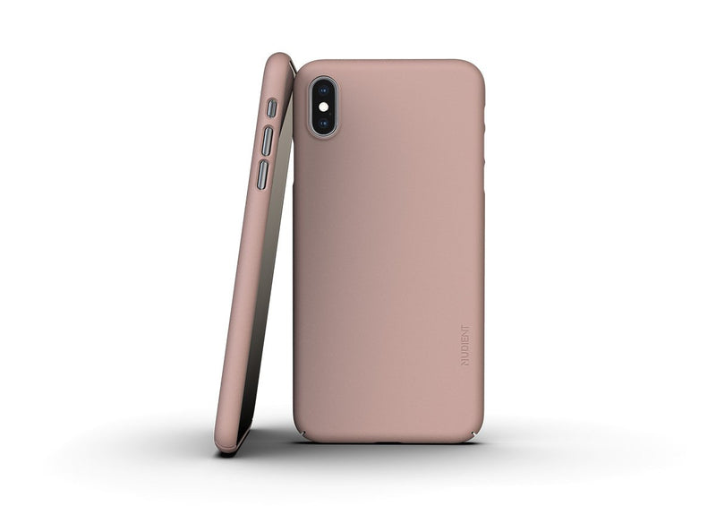 Nudient - Dun iPhone XS Max Hoesje V3 - Dusty Pink