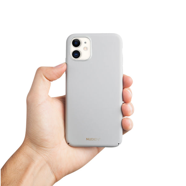 "Dun iPhone 11 6,1"" Hoesje V2 - Pearl Grey"