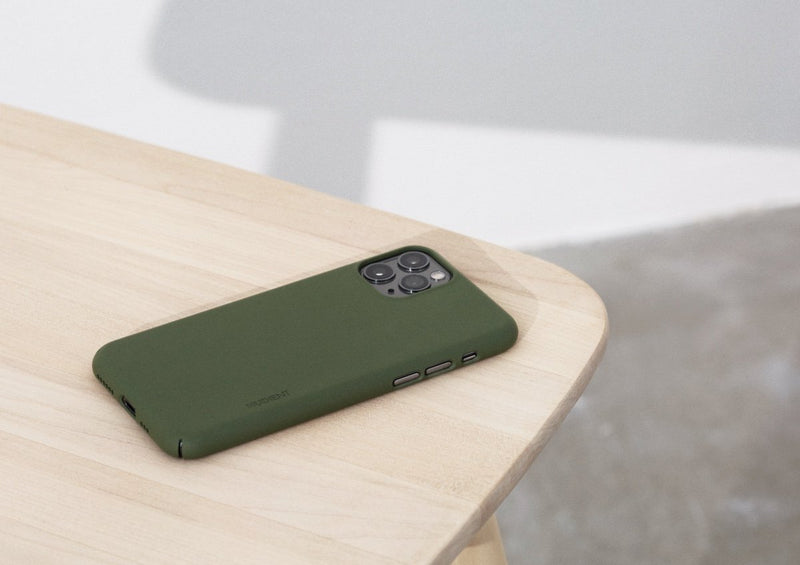 Nudient - Dun iPhone XS Hoesje V3 - Pine Green