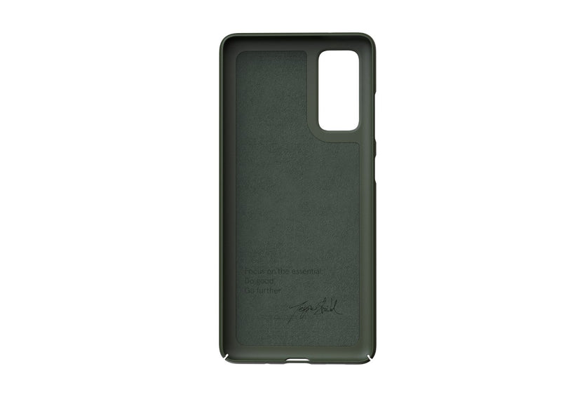 Nudient - Dun Samsung S20 FE Hoesje V3 - Pine Green