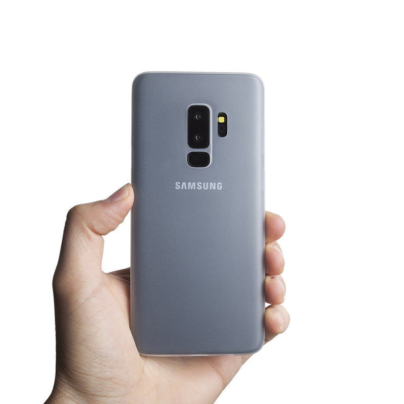 Super dun Samsung S9 Plus hoesje - Frosted transparent