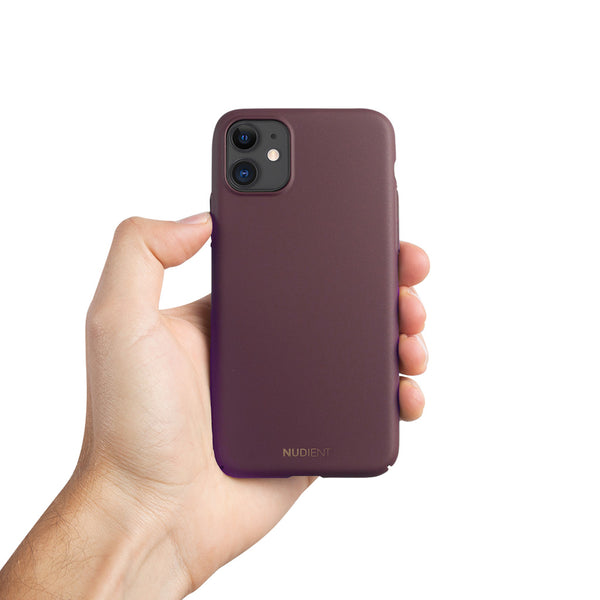 "Dun iPhone 11 6,1"" Hoesje V2 - Sangria Red"