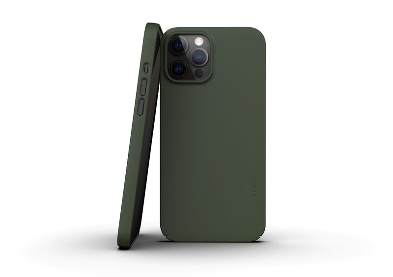 Nudient - Dun iPhone 12 Pro Max Hoesje V3 - Pine Green