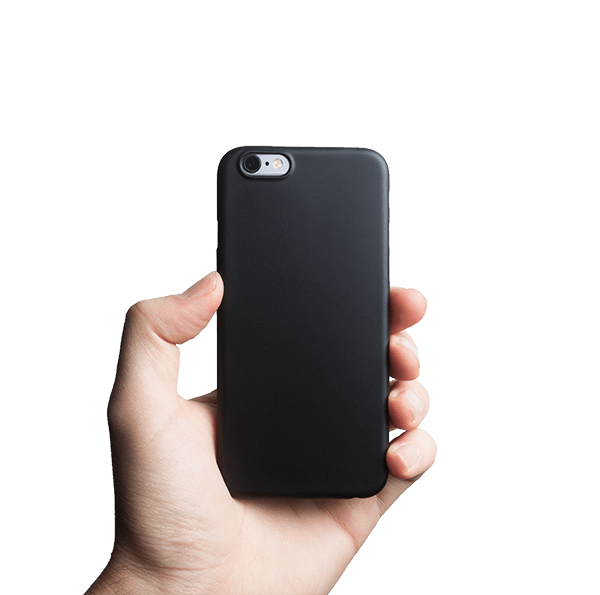 Super dun iPhone 6s hoesje - Solid black