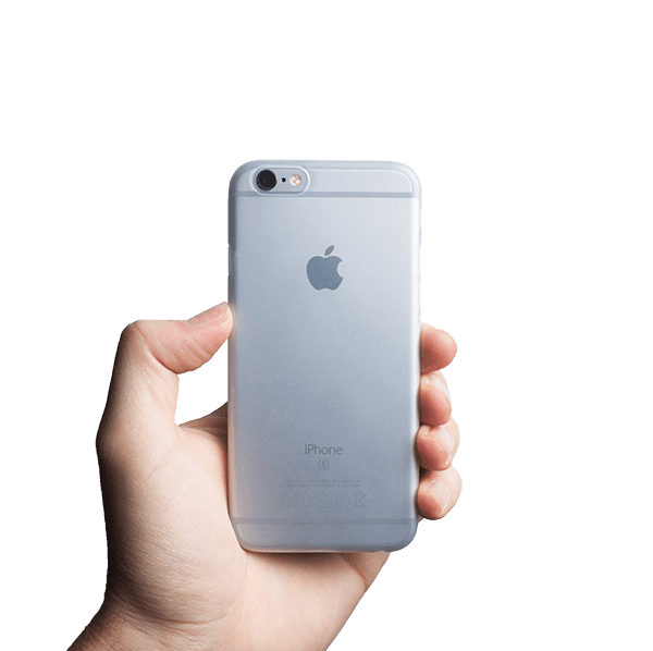 Super dun iPhone 6s hoesje - Frosted transparent
