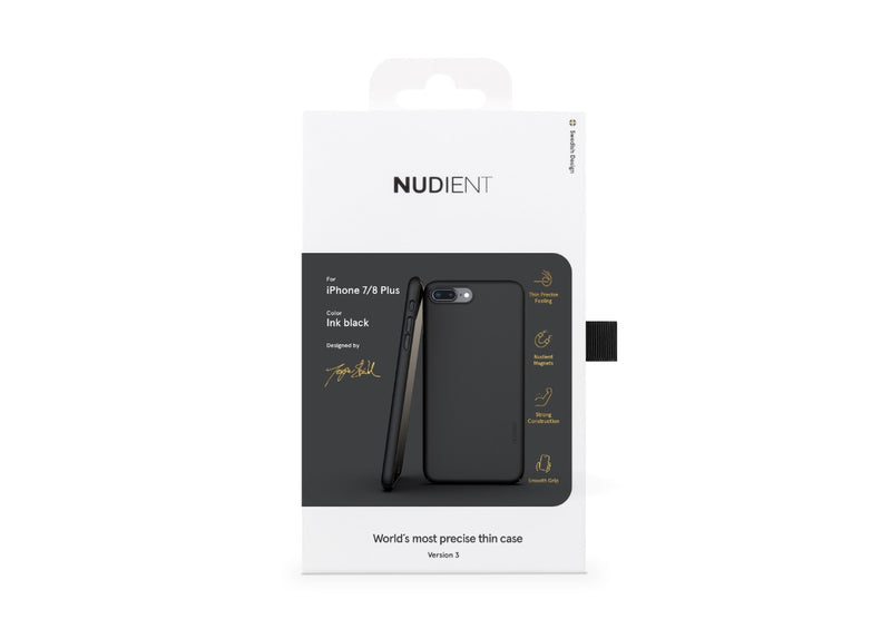 Nudient - Dun iPhone 7/8 Plus Hoesje V3 - Ink Black
