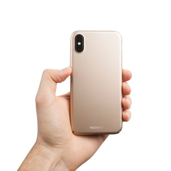 Dun iPhone X Hoesje V2 - Jewelry Gold