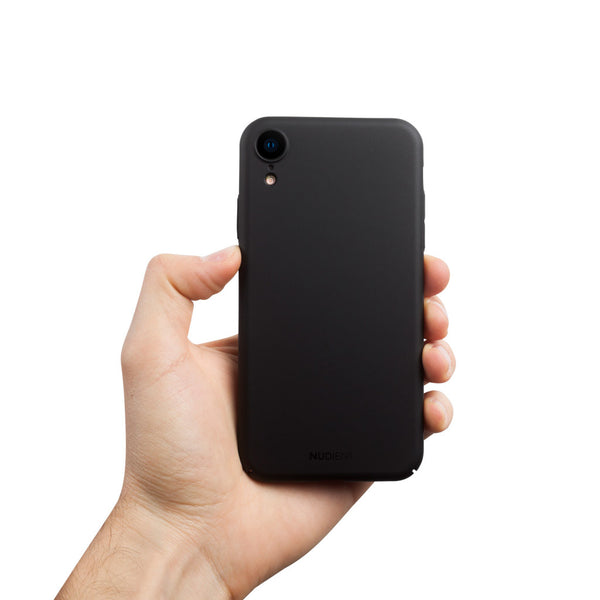 Dun iPhone XR Hoesje V2 - Stealth Black