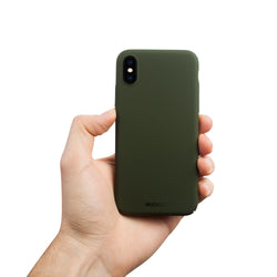 Dun iPhone X Hoesje V2 - Majestic Green