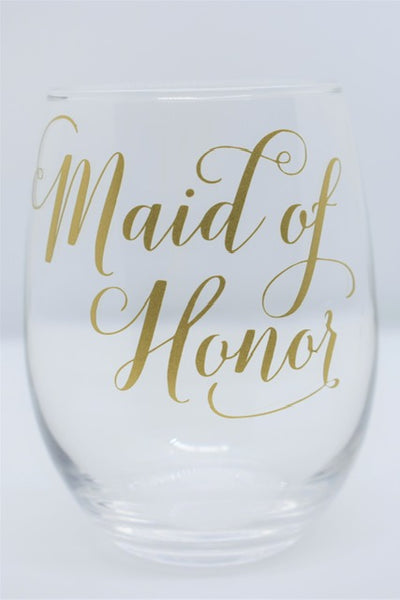 Personalized Bridal Wine Glasses