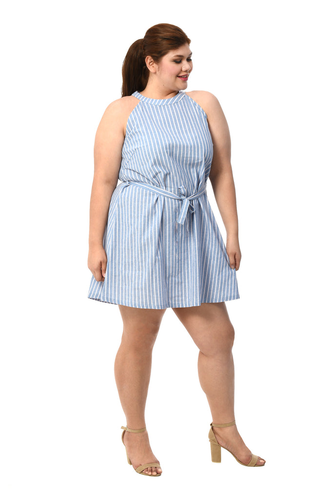 Halter Striped Dress (FDS 008)