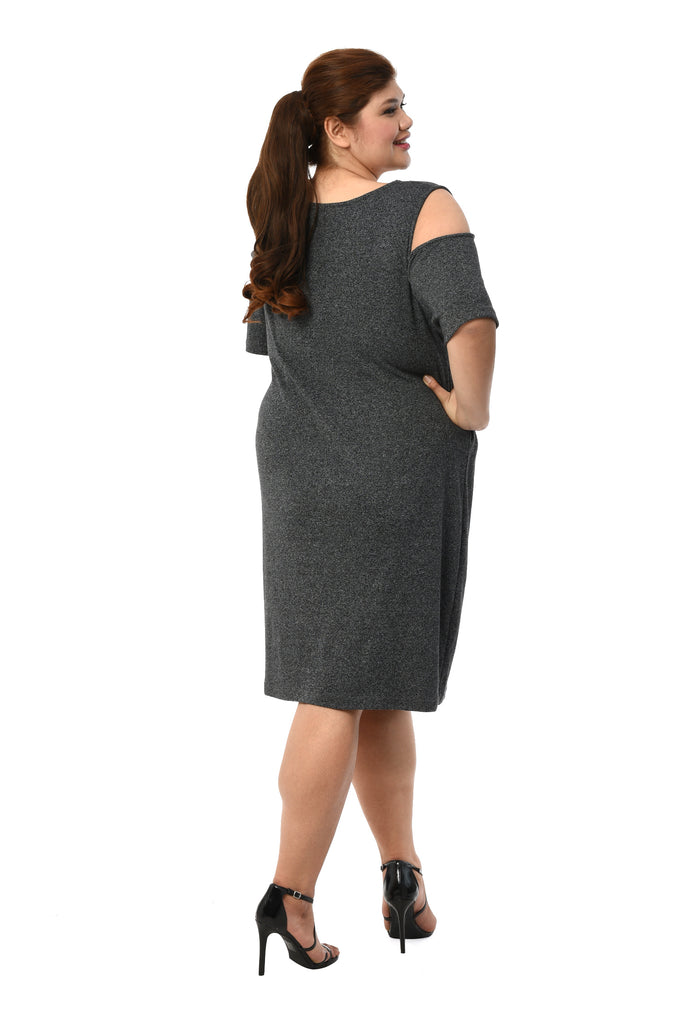 Heather Cold-Shoulder Dress (FDS 007A)