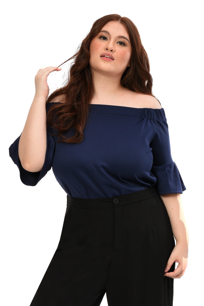 Offshoulder Top (FBL 023) Midnight blue