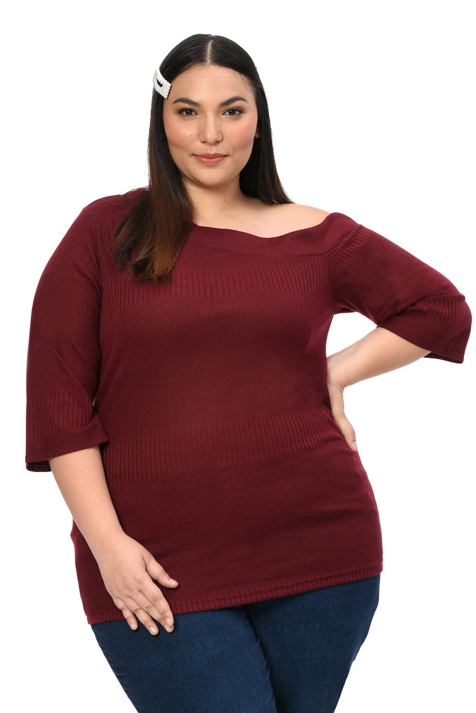 Asymmetric Top (FBL 027) Maroon