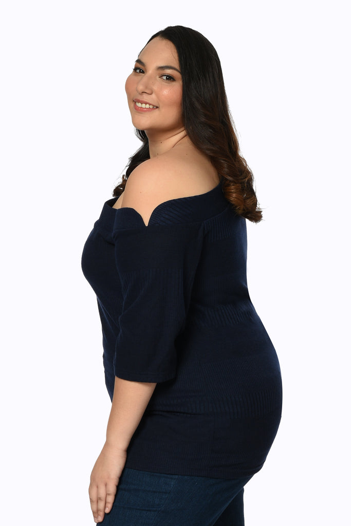 Asymmetric Top (FBL 027) Navy blue