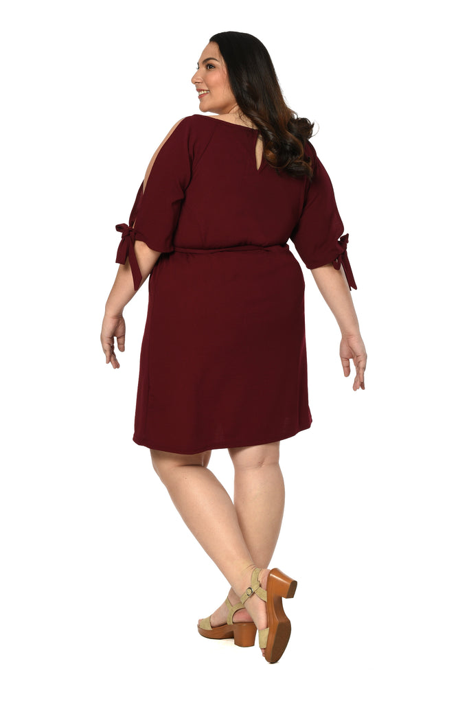 Shift Dress (FDS 012) Garnet