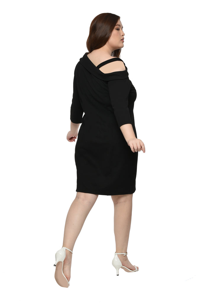Asymmetric Dress (FDS 038) - Ink Black