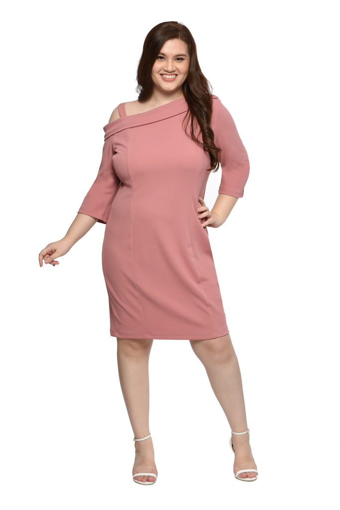 Asymmetric Dress (FDS 038) - Old Rose