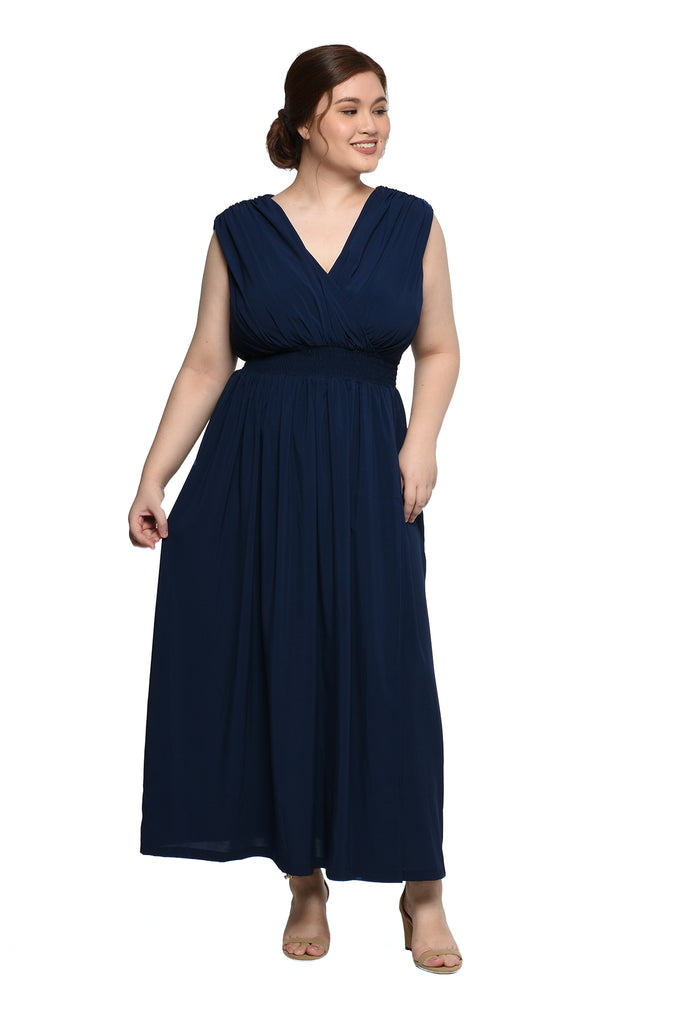Shirred Long Dress (FDS-037)