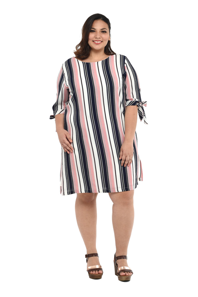 Striped Shift Dress (FDS 022)