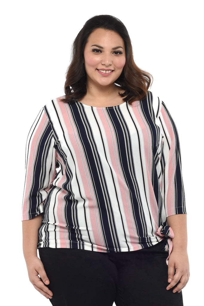 Striped Blouson Top (FBL 017)