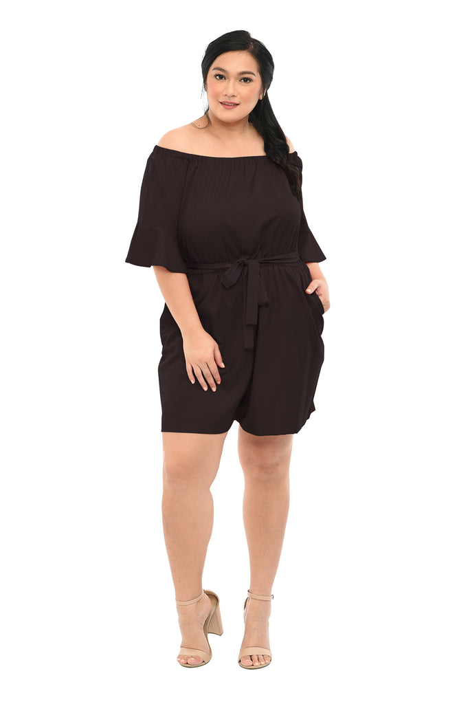 Offshoulder Romper (FJP 027) Ink Black