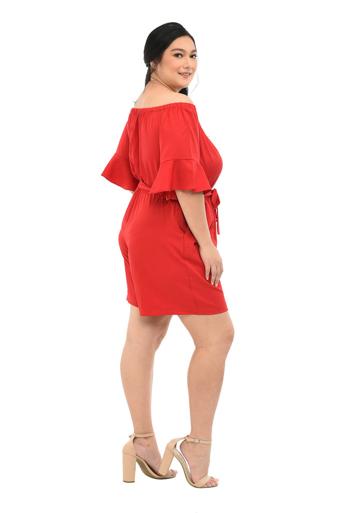 Offshoulder Romper (FJP 027) Red