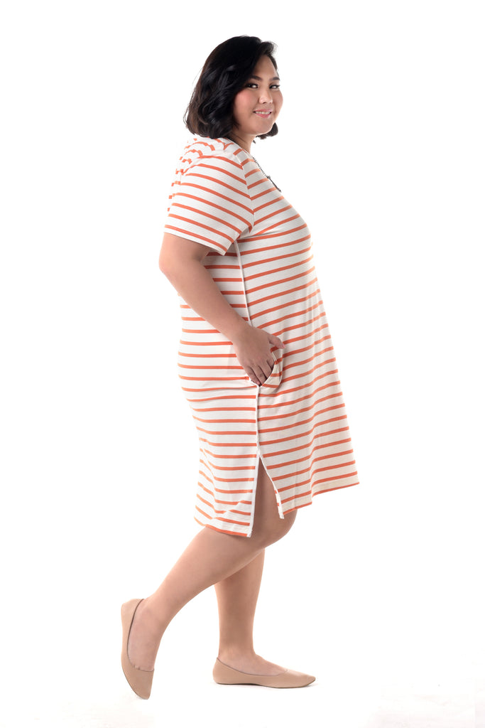 Stripe T-Shirt Dress (FDS 006)