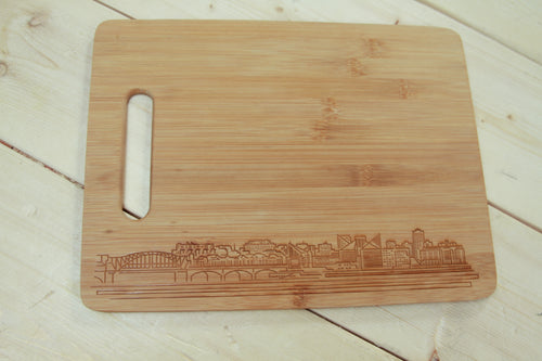 City Scene Bamboo Cutting Board 9 x 12