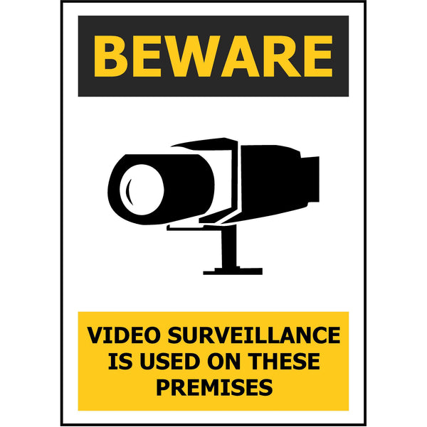 BEWARE Video Surveillance  Is Used On These Premises