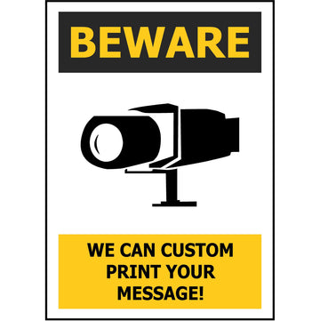BEWARE Custom - add your own message!
