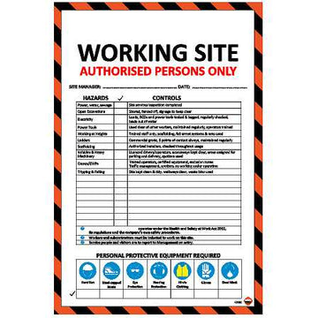 CONSTRUCTION SITE HAZARD ID BOARD CSHIB