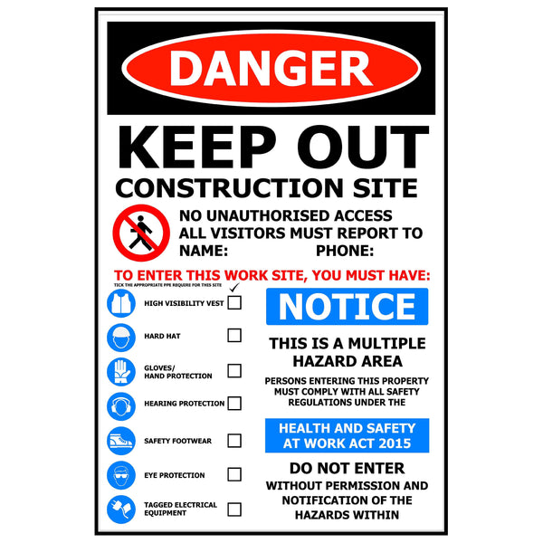 600x800 DANGER Keep out You must have etc... ACM