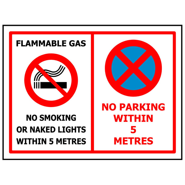 Flammable Gas No Parking