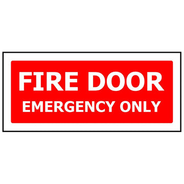 FIRE DOOR EMERGENCY ONLY