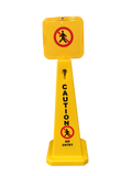 4 Sided Yellow Cone No Entry 925mm