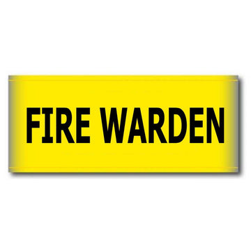 Fire Warden Arm Band Yellow