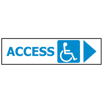 ACCESS DISABLED ARROW RIGHT GS1214