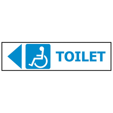 DISABLED TOILET - ARROW LEFT GS1215